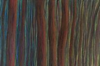 Landschaft, Grün, Acrylmalerei, Wald
