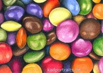 Süßigkeit, Bunt, Mischung, Zeichnungen