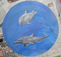 Delfin, Malerei