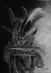 Zeichnen, Bleistiftzeichnung, Fan, Dämon
