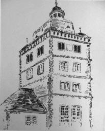 Paderborn, Turm, Zeichnungen