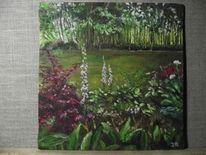 Baum, Garten, Blumen, Licht