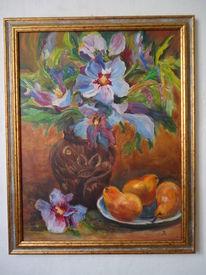 Obst, Blau, Schale, Stillleben