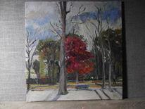 Schatten, Park, Herbst, Himmel