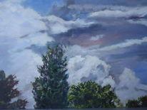 Baum, Himmel, Wolken, Blau