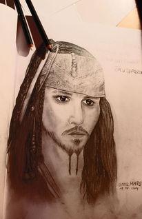 Fanart, Mann, Zeichnung, Jack sparrow