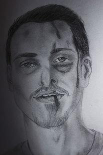 Zeichnung, Mann, Bleistiftzeichnung, Machinist
