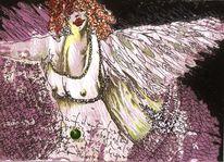 Zeichnungen, Postkarten, Schwer, Engel