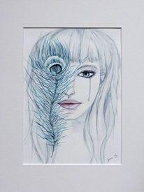 Pfauenauge, Geschenk, Geburtstag, Aquarellmalerei