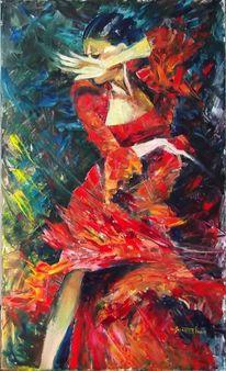 Feuer, Bühne, Impressionismus, Schwunghaft