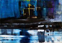 Abstrakt, Reflexion, Wasser, Kreuz