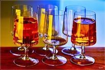 Cognac, Bunt, Glas, Fotografie
