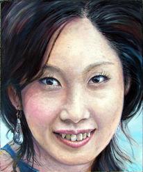 Blick, Fotorealismus, Portrait, Augen