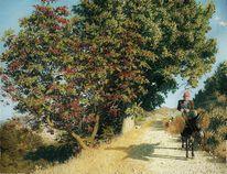Menschen, Gemälde, Pflanzen, Baum