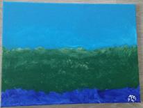 Tiefsee, Blau, Acrylmalerei, Malerei