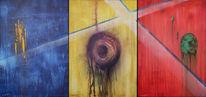 Blau, Rot, Gelb, Malerei