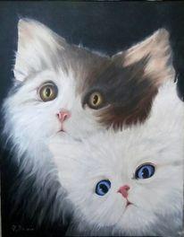 Ölmalerei, Katze, Malerei