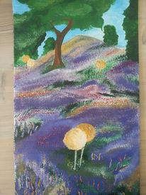 Heide, Landschaft, Farben, Malerei