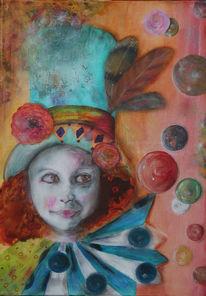 Acrylmalerei, Magie, Harlekin, Malerei
