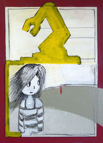 Acrylmalerei, Jung, Fantasie, Abstrakt