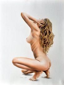 Lasurtechnik, Portrait, Acrylmalerei, Zeichnung