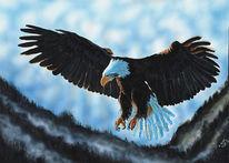 Airbrush, Acrylmalerei, Lasurtechnik, Tiere