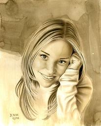Airbrush, Acrylmalerei, Lasurtechnik, Portrait