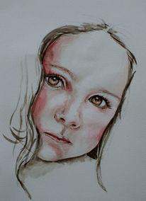Augen, Nachdenklich, Face11, Malen