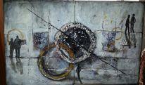 Acrylmalerei, Struktur, Malerei, Welt