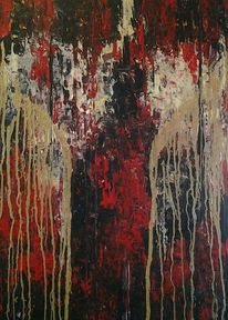 Acrylmalerei, Modern, Farben, Gold
