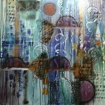 Strukturieren, Abstrakt, Spachteltechnik, Malerei
