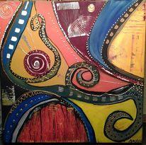 Bronze, Acrylmalerei, Kraft, Farben