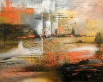 Abstrakt, Landschaft, Malerei, Fata