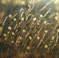 Struktur, Kornfeld, Herbst, Gold
