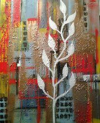 Farben, Abstrakt, Strukturieren, Acrylmalerei