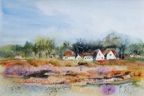 Heide, Dorf, Hiddensee, Landschaft