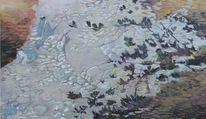 Gemälde, Sommer, Waal, Ölmalerei