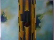 Surreal, Malerei, Ölmalerei, Turm