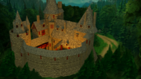 Wald, Burg, Fantasie, Rendering