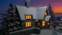 Schnee, Winter, Weihnachten, Rendering