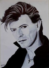 Zeichnung, Portrait, Kuli, Zeichnungen