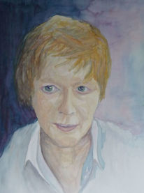 Figural, Portrait, Aquarellmalerei, Aquarell