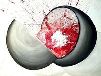 Rot schwarz, Acrylmalerei, Explosion, Ölmalerei