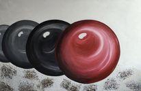 Kugel, Rot schwarz, Malerei