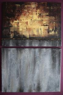 Gelb, Abstrakt, Feuer, Acrylmalerei