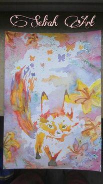 Comic, Fuchs, Der kleine prinz, Acrylmalerei