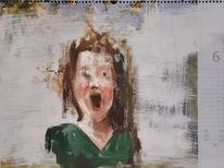 Portrait, Schrei, Emotion, Ölmalerei