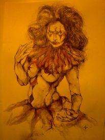 Wahnsinn, Körper, Zeichnung, Zirkus