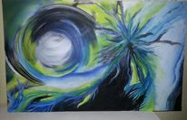 Bewegung, Acrylmalerei, Abstrakt, Energie