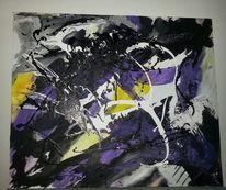 Schwung, Chaos, Acrylmalerei, Abstrakt
